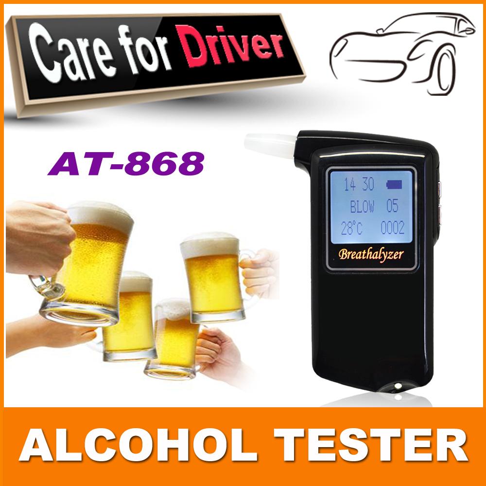 Высокая точность Prefessional полиция цифровой дыхание спирт алкотестер AT868
