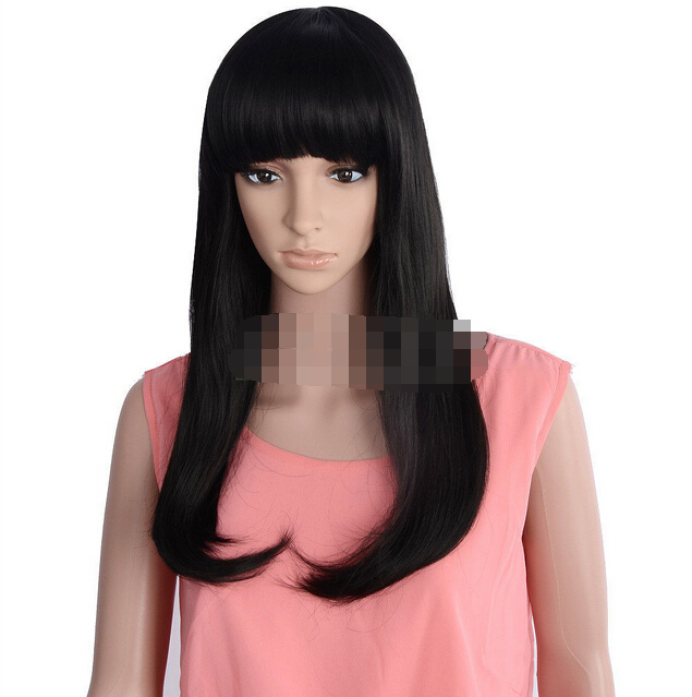 Fashion Women Lady Girl Sexy Black Long Slight Curly Hair Cosplay Party Prom Wig(China (Mainland))