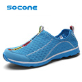 socone New Summer Men Shoes Men Slip On Breathable Mesh Beach Water Shoes Plus Size