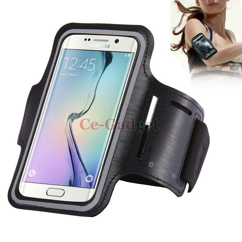 Waterproof Running Arm Band Leather Case For Samsung Galaxy Note 5 4 3 A8 A7 Holder Pouch Belt GYM Cover + Key Slot Support Case(China (Mainland))