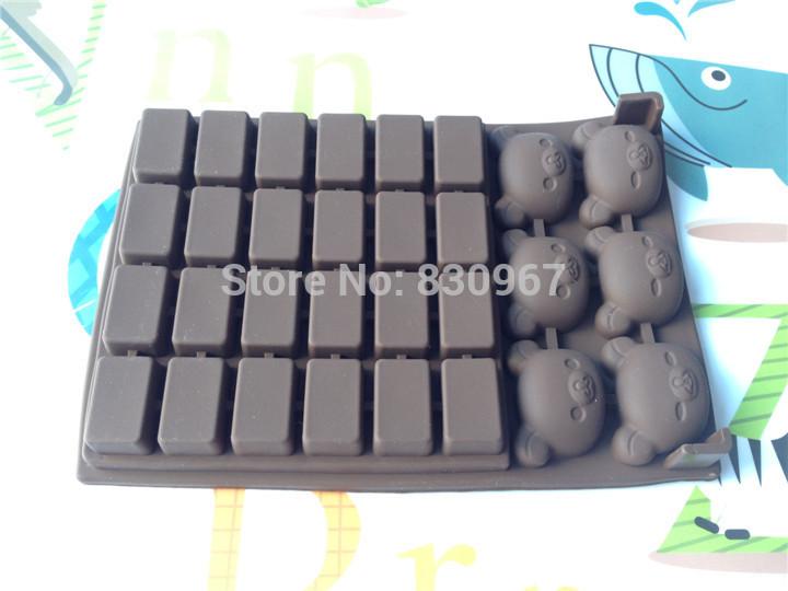1pcs Winnie shape and the shape of chocolate bar chocolate mould animal mold cake decorating tools( Free Shipping ) L069(China (Mainland))