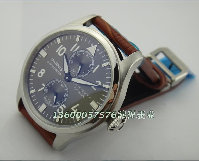 47mm big gray dial PARNIS Asian ST2530  pilot automatic movement MEN watch Classic watches wholesale x0003