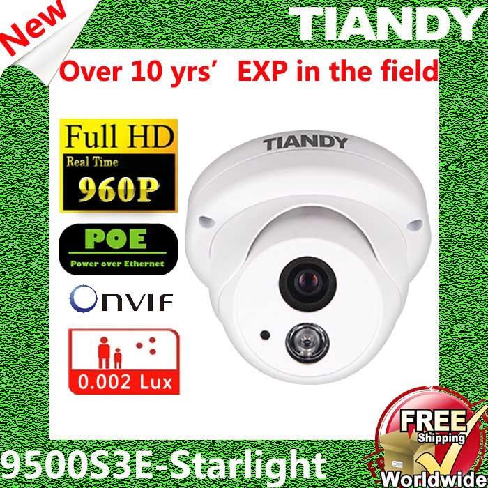 TIANDY NC9500S3E-Startlight CCTV Mini Dome IP Camera Surveillance Video Surveillance System Outdoor Dome CCTV Camera HD(China (Mainland))