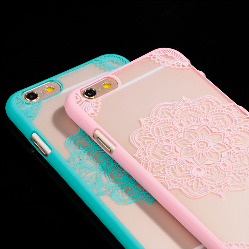 New Arrival Luxury Lotus Flower Pattern for Apple iphone 6 6S 6Plus 6s Plus Phone Cases 4.7 or 5.5 inch Cell Phone Back Cover(China (Mainland))