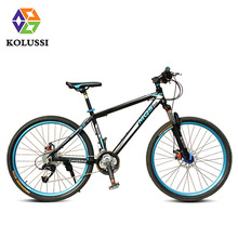 2015 New KOLUSSI 26″ Inch 27 Speed Aluminum Alloy Mountain Bike With Double Disc Brake Bicicleta Bicycle In 3 Color B-003