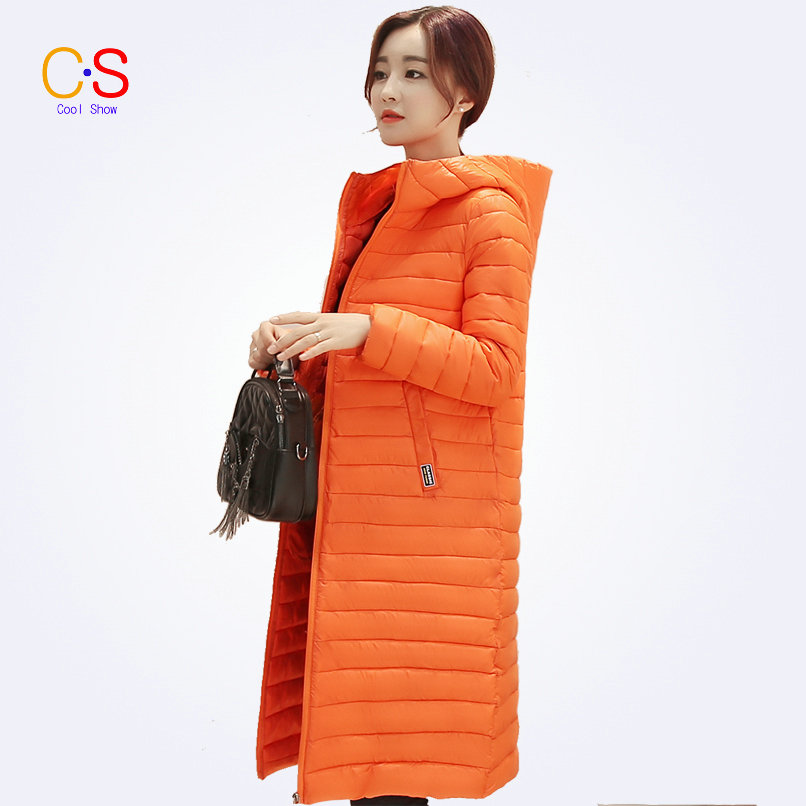 Women Winter Coats Solid Color Ladies Hooded Jackets With Magic Hoody Trench Coat For Female Outerwears Outfits(China (Mainland))
