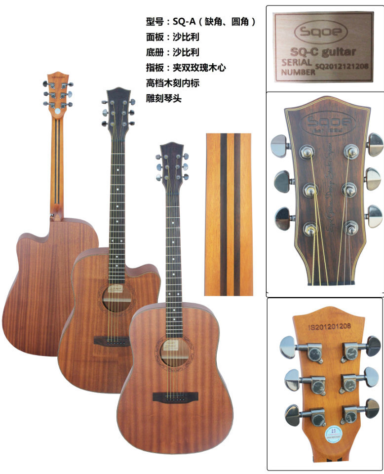 matte color electric acoustic guitar with visible Tuner free shipping bag<br><br>Aliexpress