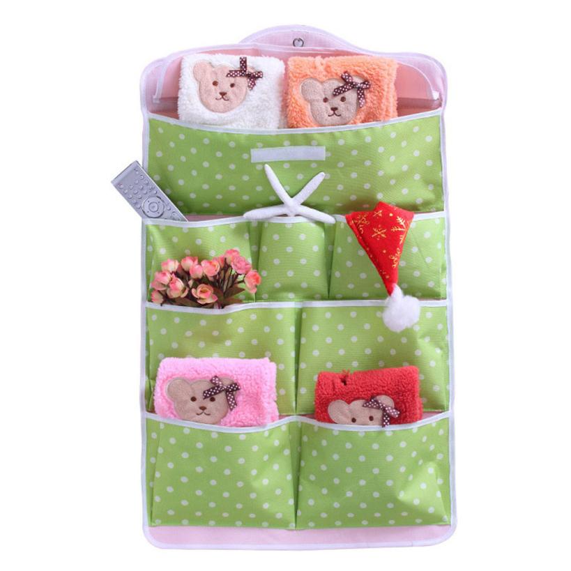 New arrival wholesale 2016 good nice Behind Doors Sundries Organizer Wall Hanging Storage Bag Multi-layer Fabric Debris(China (Mainland))