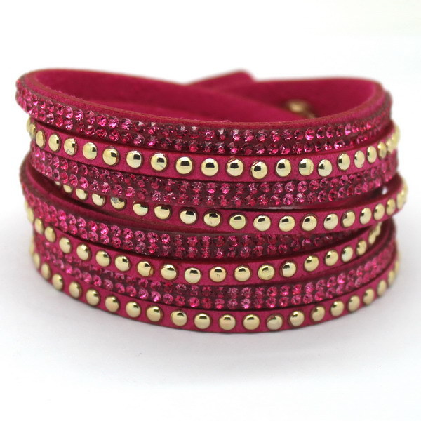 2015 New Listed Latest trend Bracelet! Selling The European And American Style Bracelet, Female Pop Mei Red Leather Bracelet(China (Mainland))