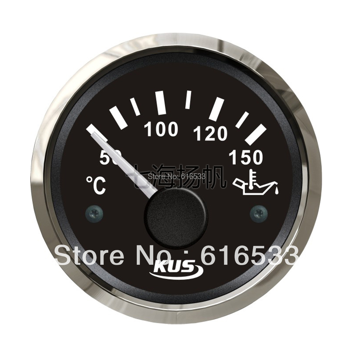 52mm oil temperature gauge for vehienlar rv marine general yacht motor boat accessory 1pc (50-150)(China (Mainland))