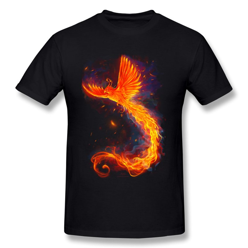 New 2014 summer solid animal men s t shirt fire phoenix t for Amazon custom t shirts