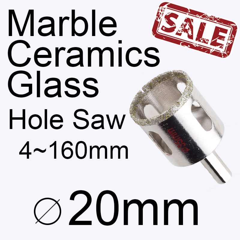20mm 0.787in Marble hole saw Glass hole saw Ceramic tile hole saw Masonry drilling Power tools Drill bit Buy 3 more favorable(China (Mainland))