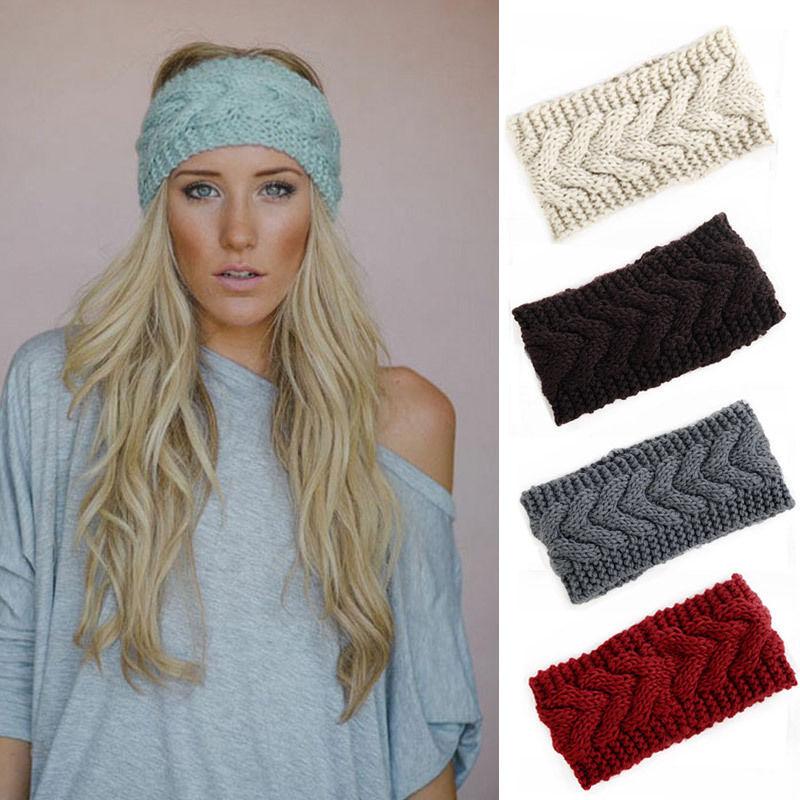 Headband Head Wrap Knitting Pattern : 2015 Women Fashion Winter Cable Knit Crochet Headwear ...