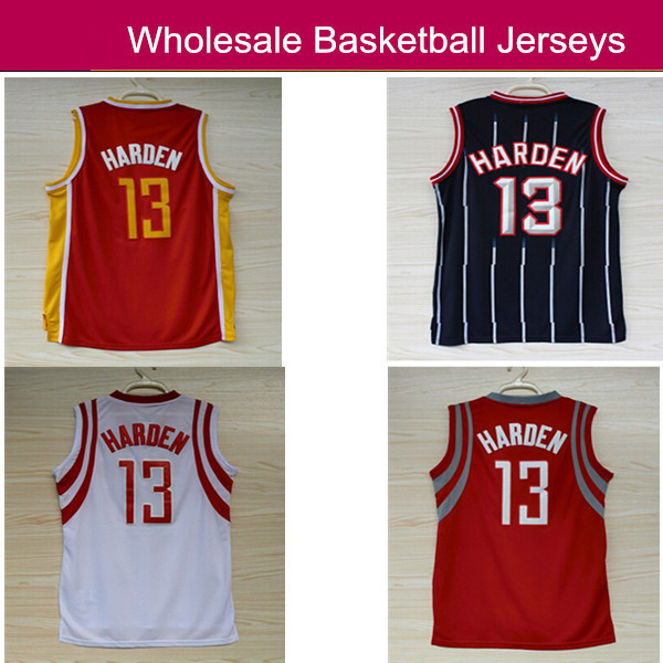Houston 13 James Harden , Cheap Basketball Jersey James Harden Embroidery Logos Basketball jersey Best Quality(China (Mainland))
