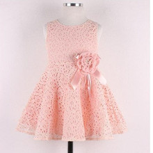 Summer Baby Girls Princess Tutu Dress Kids Baby Flower vestidos Lace Print Party Dresses for 2-7Y