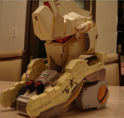 Gundam MSN-100 up to hundred-style 3D paper model DIY(China (Mainland))