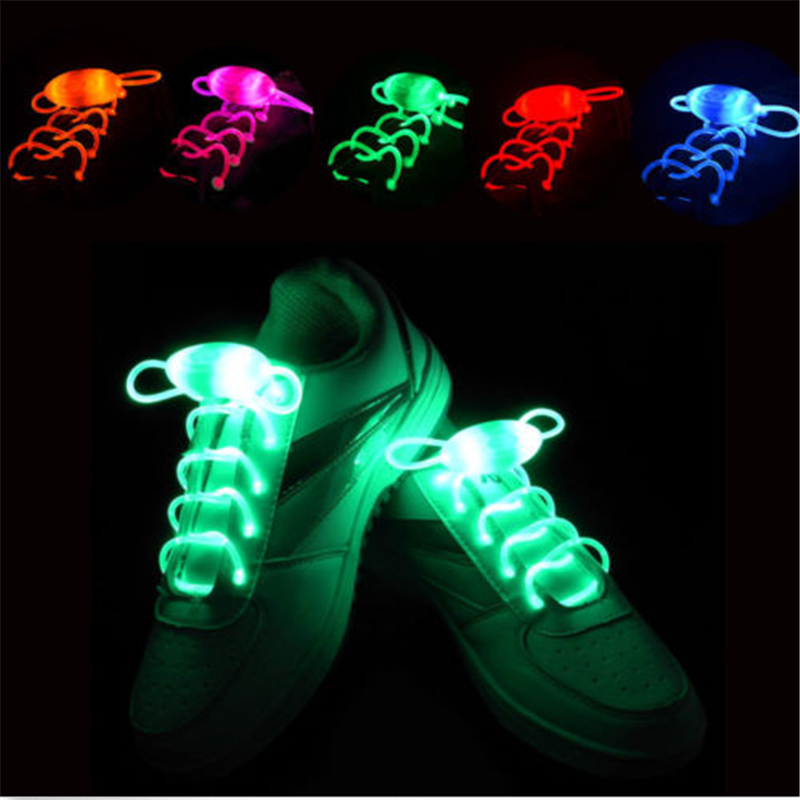 1 Pair Led Light Shoe Laces Glow Stick Flashing Shoelace(China (Mainland))
