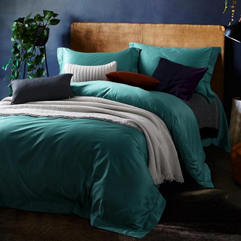 Achetez en gros housse de couette vert en ligne des for Drap housse coton egyptien