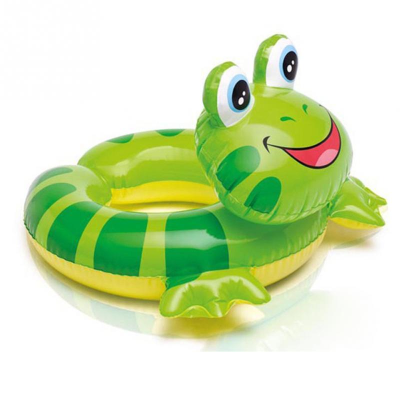 1Pcs PVC Children Ring Float Frog Turtle Bird Swimming Ring Swimming Accessories(China (Mainland))