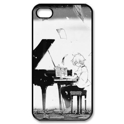 Manga Soul Eater Playing piano Case for Iphone 4 4S 5 5S 5C 6 Plus for Samsung galaxy S3 S4 S5 Mini S6 Edge A3 A5 A7 Note 2 3 4(China (Mainland))