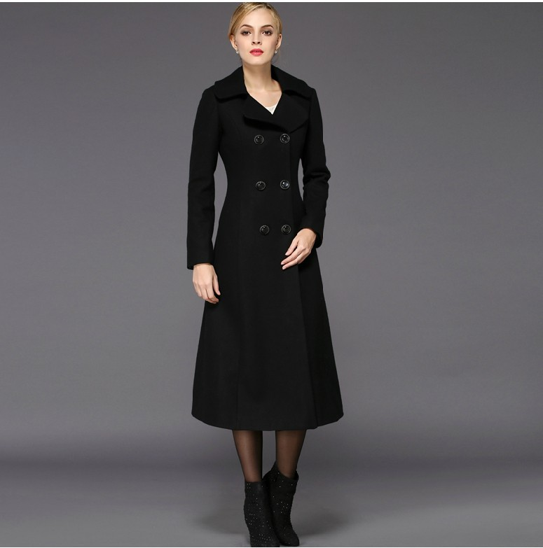 Long Black Wool Coat Womens | Fashion Women's Coat 2017