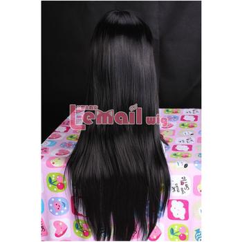 [Puella Magi Madoka Magica] 75 cm Straight Long Black Akemi Homura Cosplay Wig With Bangs