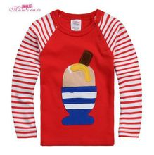 Baby clothing New winter long sleeve raglan sleeve T-shirt bottoming shirt hot style cotton shirt