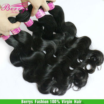 8A Peruvian Body Wave Unprocessed Hair Weaves 4pcs/lot,Berrys Fashion Virgin Hair Products Natural color, color2#,color4#