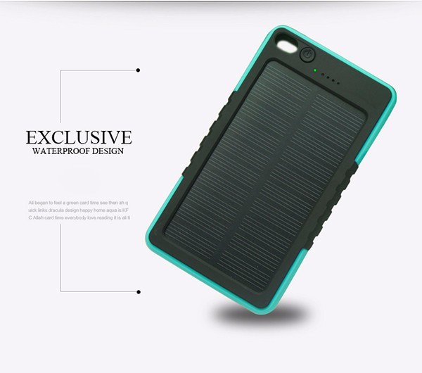 8000mAhDual USB Portable Solar charger Power Bank 18650 Mobile Battery Charger External Powerbank for mobile phone solar panel(China (Mainland))