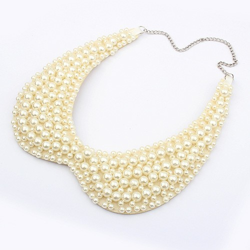2014 Exclusive High quality 2 colors Fashion Elegant Multilayer imitation pearl collar necklace Statement jewelry wholesale