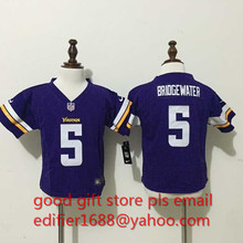 100% stitched baby Minnesota Vikings toddler 5 Teddy Bridgewater 22 Harrison Smith 84 Cordarrelle Patterson Embroidery Logos(China (Mainland))