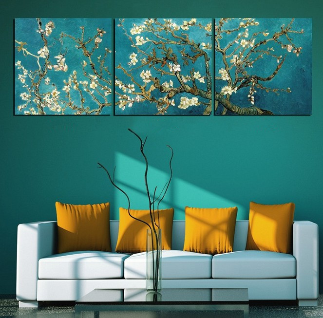 Popular 3 piece Modern Wall Painting van gogh tree Home Decoration Art Picture Paint Canvas Prints DOU - Best-Feeling store