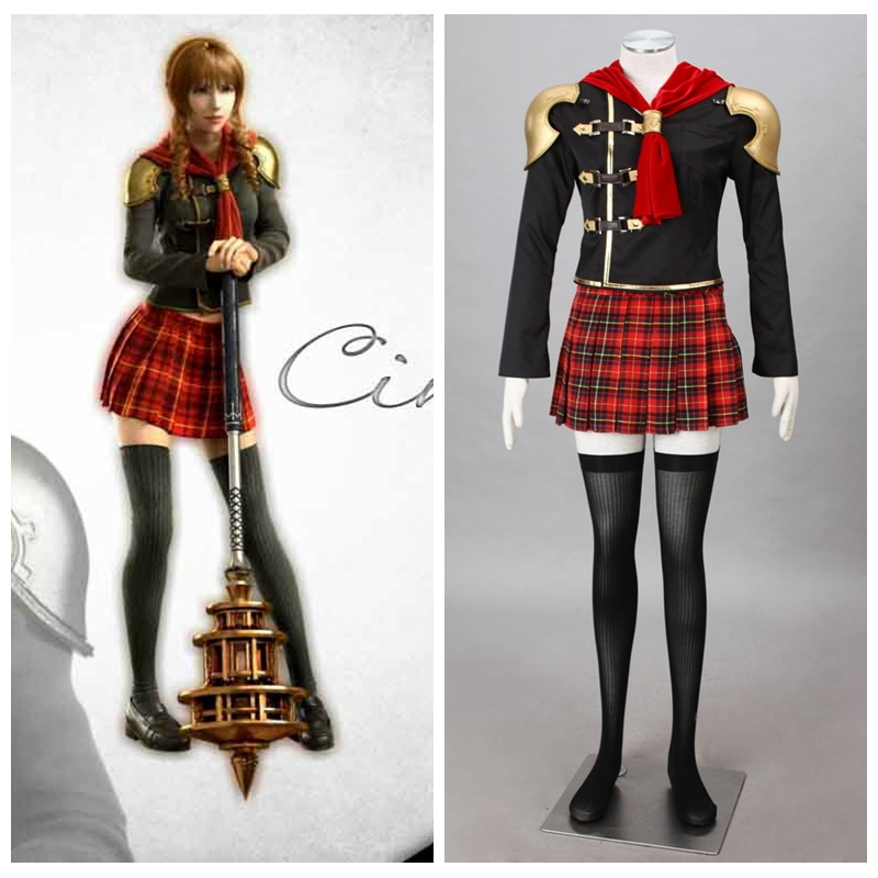 Здесь можно купить  Final Fantasy Type-0 Game Suzaku Peristylium Class Zero Cinque Halloween Cosplay Costume  Одежда и аксессуары