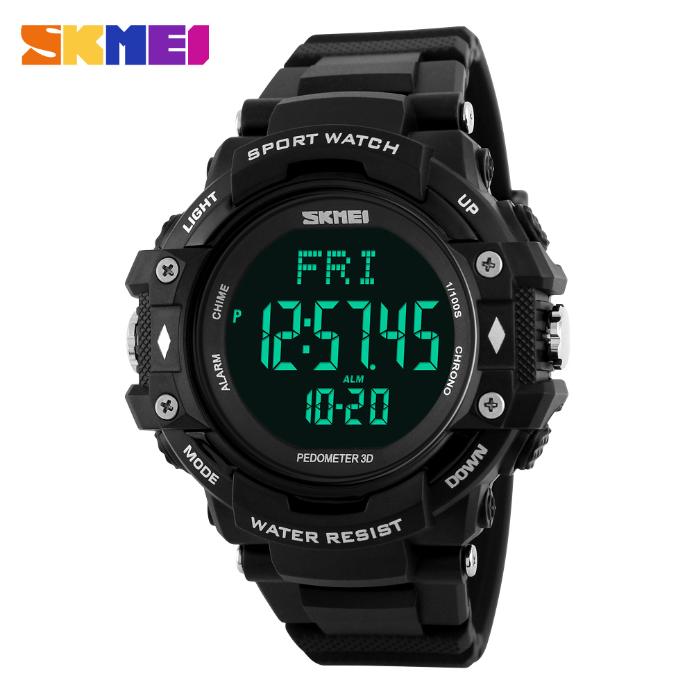 2016 SKMEI Sports Watches Men 3D Pedometer Heart Rate Monitor Calories Counter Digital Display watches Outdoor Military watches(China (Mainland))