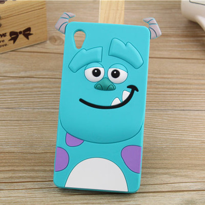 3D Cartoon Monsters University Sully DESPICABLE ME Yellow Minion Soft Case For Sony Xperia M4 Aqua Free Shipping(China (Mainland))