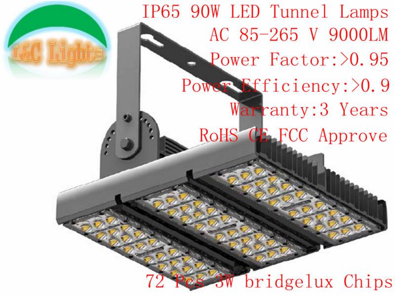 Factory Supply AC85-265V 72Pcs LEDs FCC CE&ROHS Approve Warraty 3 years High Quality Super Bright 90W LED Flood light(China (Mainland))