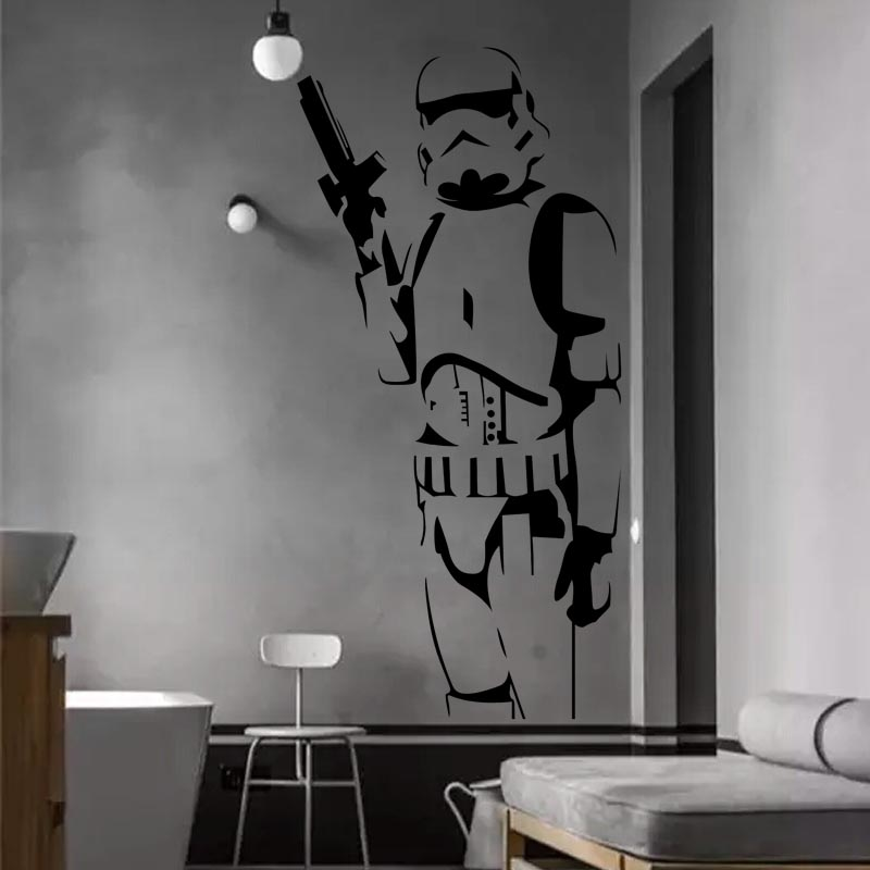 DIY Star Wars Character Wall Stickers Suitable For The