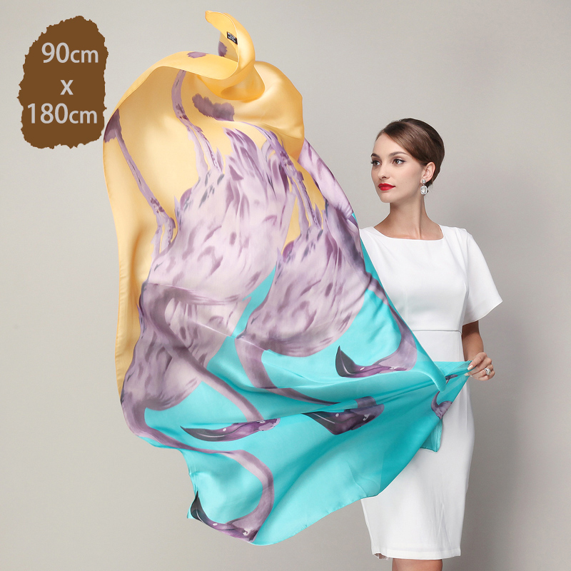 2016 Silk feeling Chiffon Beach shawls designer luxury brand flower scarf women wraps mulitfunctional scarves(China (Mainland))
