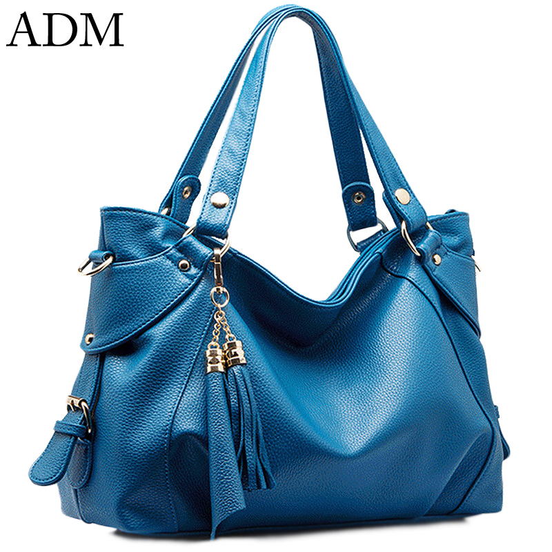 [Ru] ADM 2016 New Arrive Womens Shoulder Bag Tassels Fashion Casual Bucket Bag High-grade PU Leather Womens Bag Crossbody Bags<br><br>Aliexpress