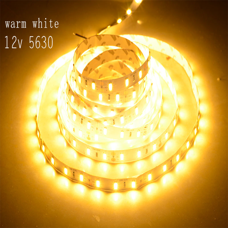 300leds 5M LED Strip Light SMD5630 60led/m White WarmWhite DC 12V 16.5ft Non Waterproof Display Jewelry Cabinets Lights(China (Mainland))
