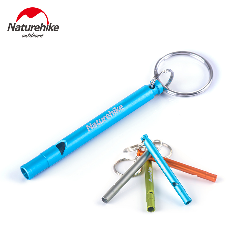 Naturehike 3 Pcs Outdoor Survival Loud Whistle Aluminum Alloy Cheerleading Whistle Length 7cm 4 Colors(China (Mainland))