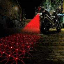 Motorcycle Anti-collision LED Laser Fog Lights Taillight Anti-fog Parking Stop Brake Lamps Warning Tail Light Motor Styling(China (Mainland))