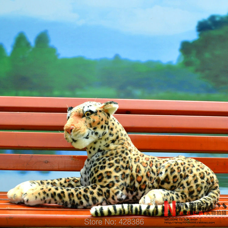 15.7 inches Simulation Leopard plush Panther simulation animal classic baby toy birthday gift - Truman Hua's store