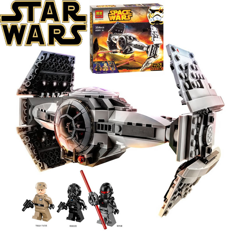 Star wars BELA 10373 model building kits compatible lego city Force Awakens TIE Advanced Prototype fighter blocks toys