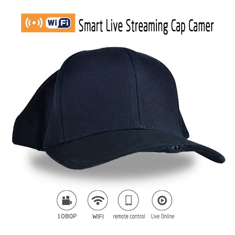P2P Wifi 1920*1080P HD Wearable Hidden Mini Camera Sport Hat Cap Motion&Family Live Video Camcorder DVR With Audio Function(China (Mainland))