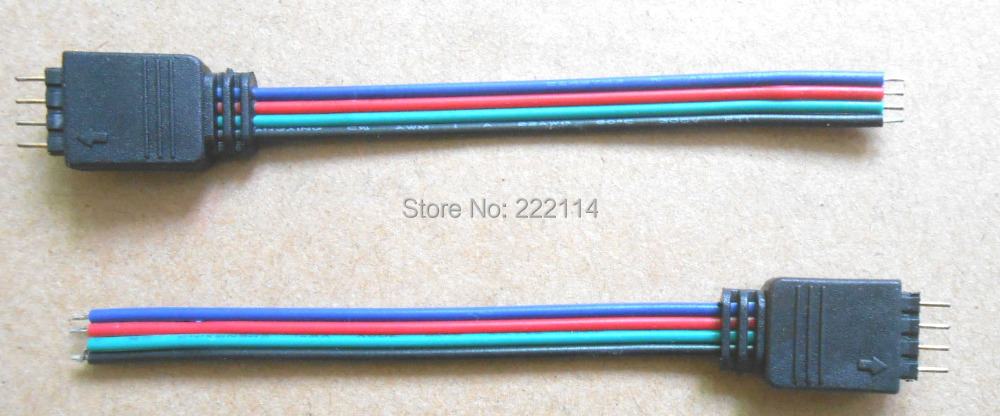 10 RGB connector wire, Male connector,10cm wire length NO WELDING Connector SET 5050 LED - EPARK668 store