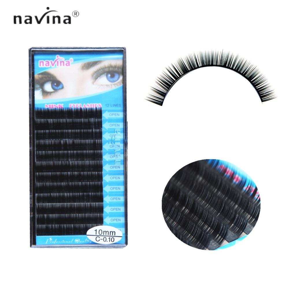Navina False Eyelash J/B/C/D Curl faux mink lash silk lashes eyelash extensions false mink eyelash extensions 3d 6d curl lashes(China (Mainland))