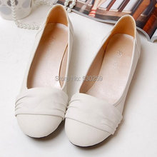 2013 New Arrival Big Size 34-43 Pink Blue Black White Yellow Casual Sweet Women Lady Flat Shoes D109(China (Mainland))