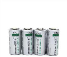 4pcs/lot REAL CAPACITY Etinesan 700mAh 3v CR123A 2/3A rechargeable LiFePO4 lithium li-ion photo battery(China (Mainland))