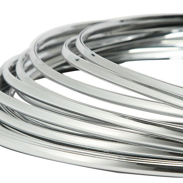 Free Shipping 6mm 3Meters Car Chrome Silver Moulding Strip Ddecoration Adhesive Bumper Grille Impact Protecting Trim(China (Mainland))